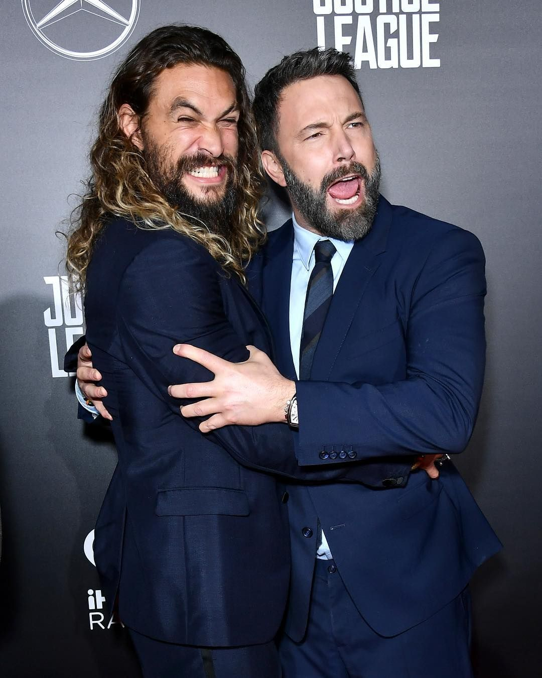 Jason Momoa Prideofgypsies And Benaffleck Hug It Out At The