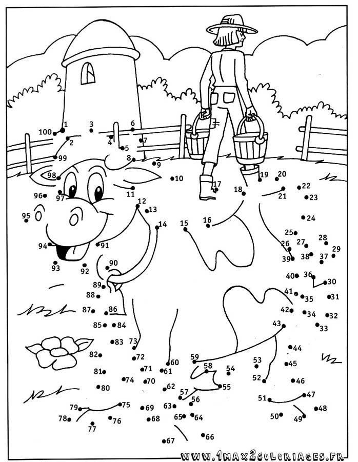 Point a relier a imprimer difficile az coloriage vache - Points a relier ce1 ...