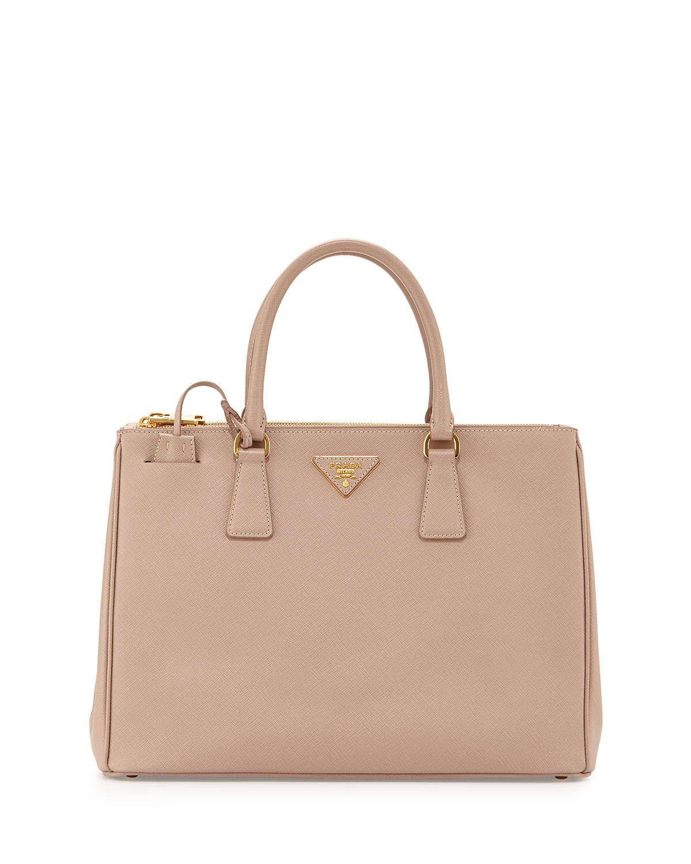 Prada Saffiano Lux Double-Zip Tote Bag 672ce81b6c7aa