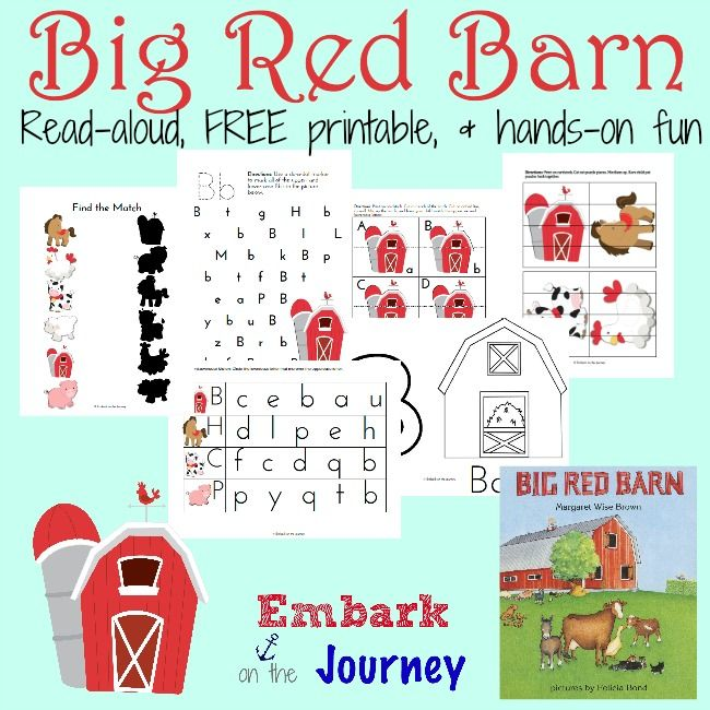 Free Big Red Barn Prek K Printable Big Red Barn Homeschool