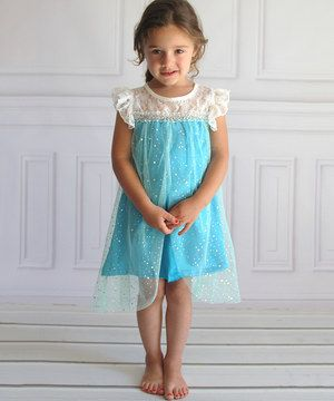 Another great find on #zulily! Blue Sparkle Angel-Sleeve Tunic - Toddler & Girls by Heart to Heart #zulilyfinds