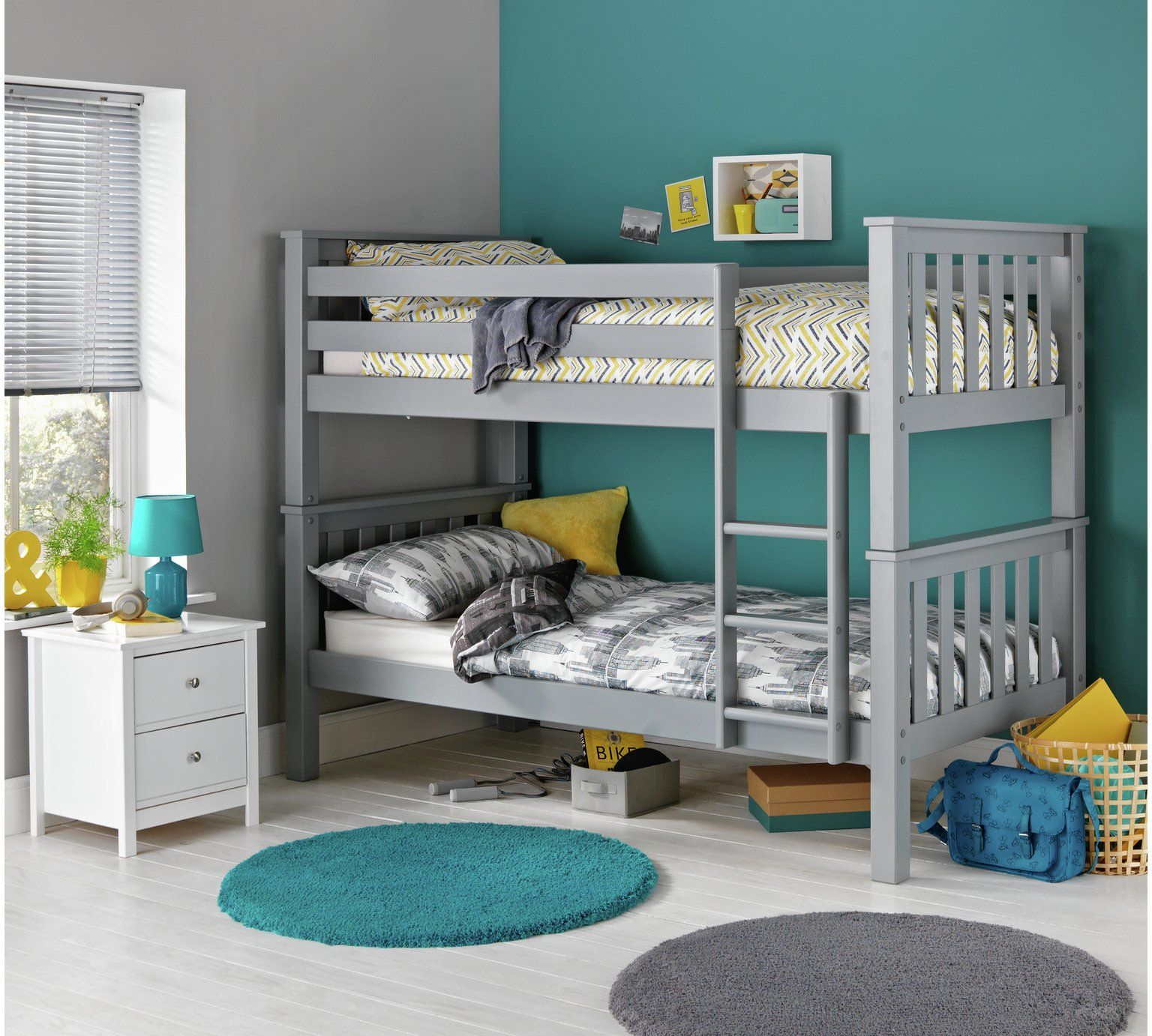 Home Heavy Duty Grey Bunk Bed Frame in 2019 Kid beds