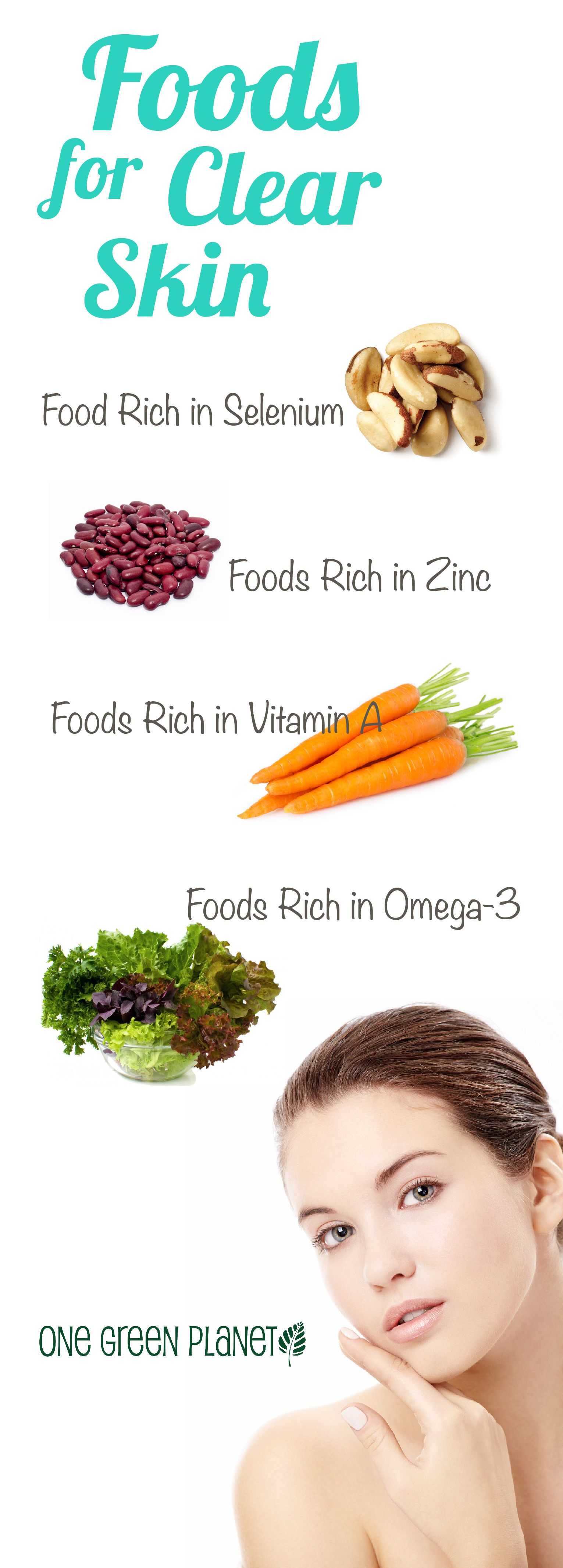 Best food options to clear skin