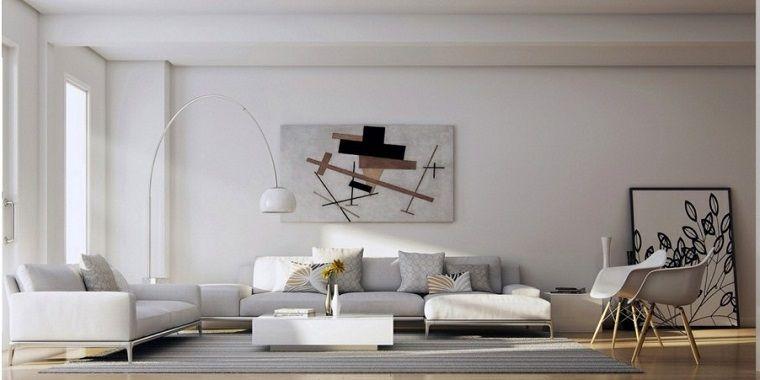 Soggiorni componibili e un\'idea di arredamento con divano imbottito ...