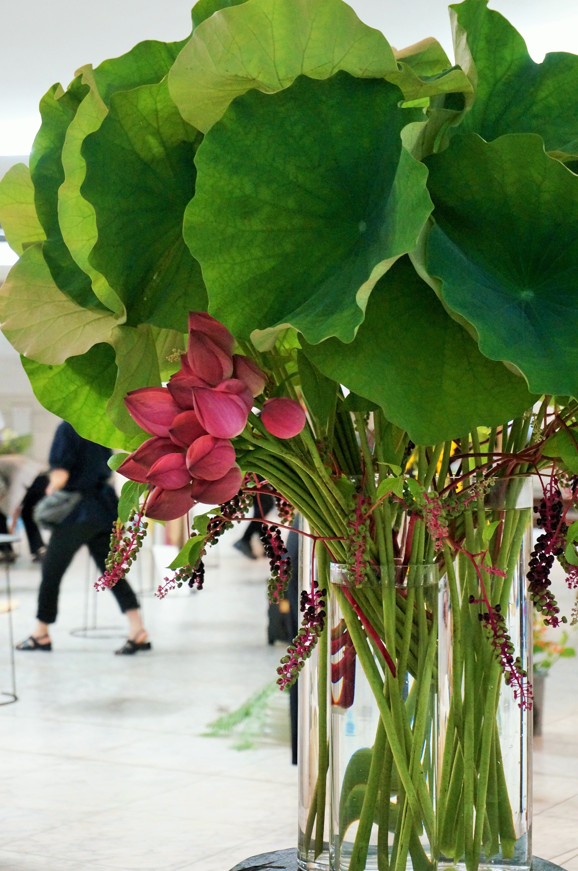 Lotus And Pokeweed Green Pinterest Lotus Flower Arrangements