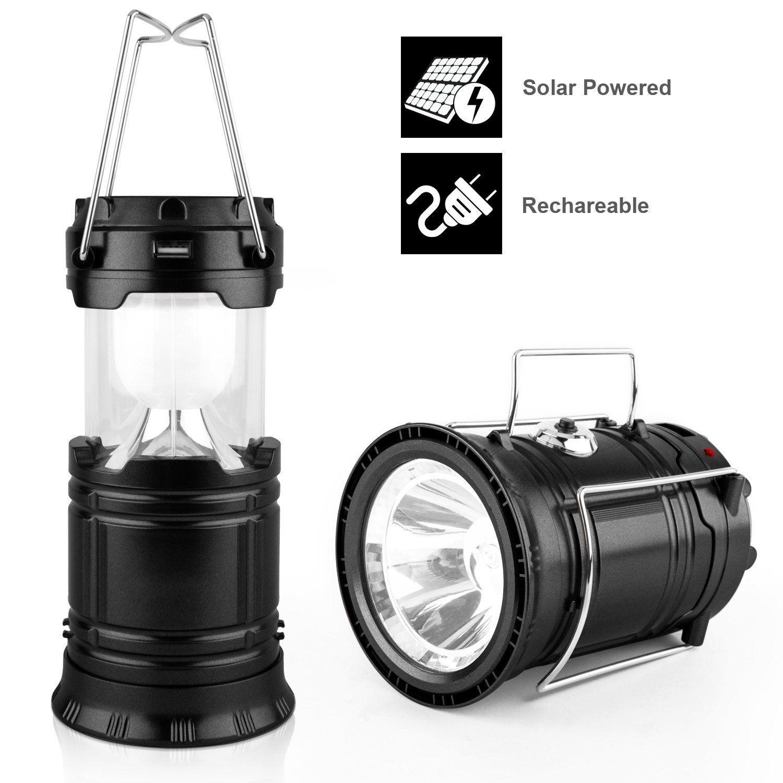 Camping Lantern, Solar Rechargeable Lantern,LED Camping Lantern ...