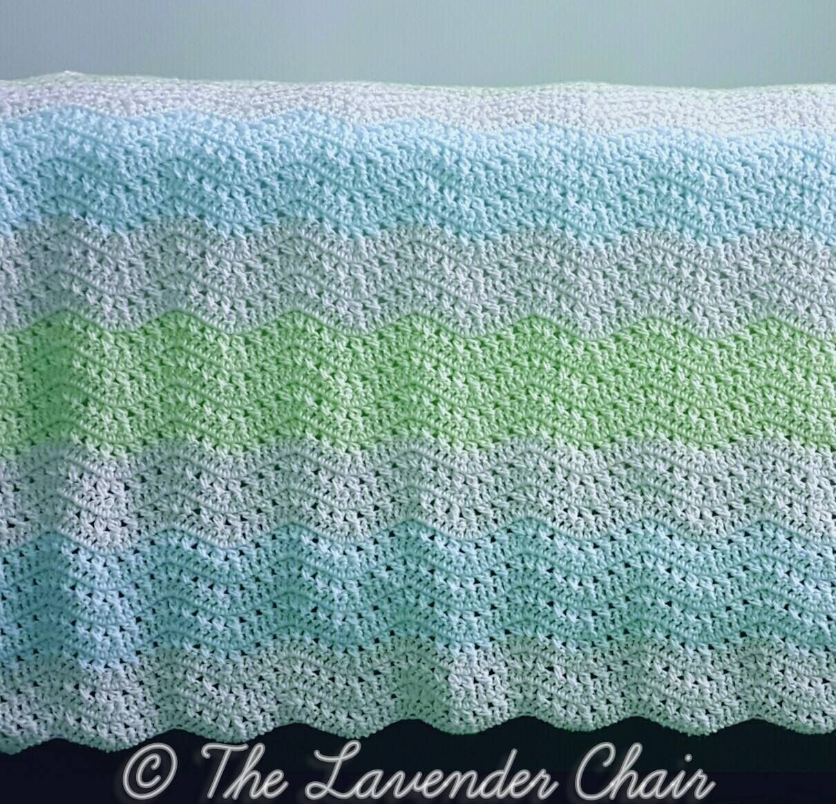 Free crochet pattern: Crossed Double Ripple Afghan by The Lavender ...