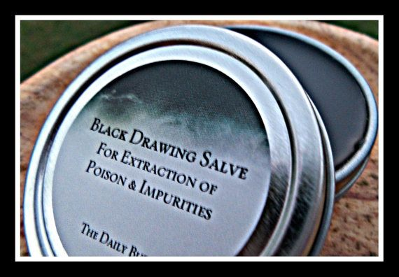 Black Drawing Salve & Acne Spot Treatment by thedailybubble