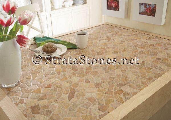 Stone Mosaic Tile Kitchen Kitchen Tiles Tile Countertops