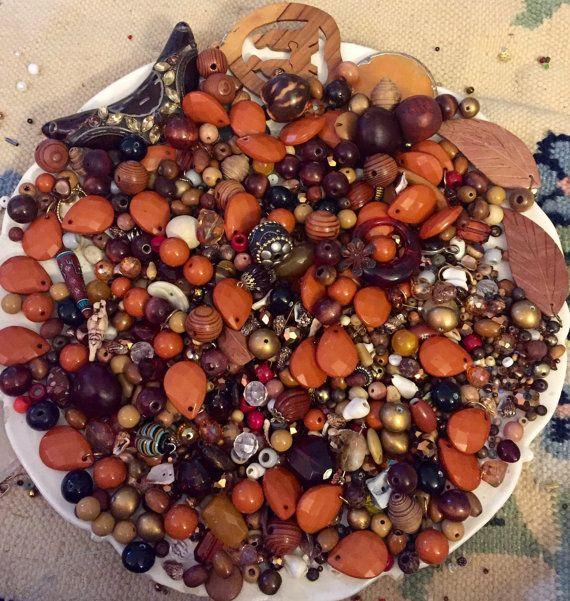 HUGE 1 Pound 7 OZ Destash Bead Mix Vintage Glass by PhatCatVintage
