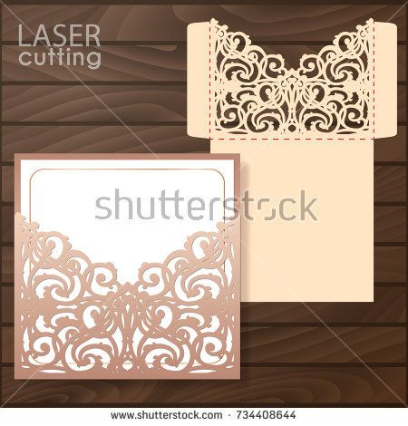 Die laser cut wedding card vector template invitation envelope die laser cut wedding card vector template invitation envelope wedding lace invitation mockup stopboris Choice Image