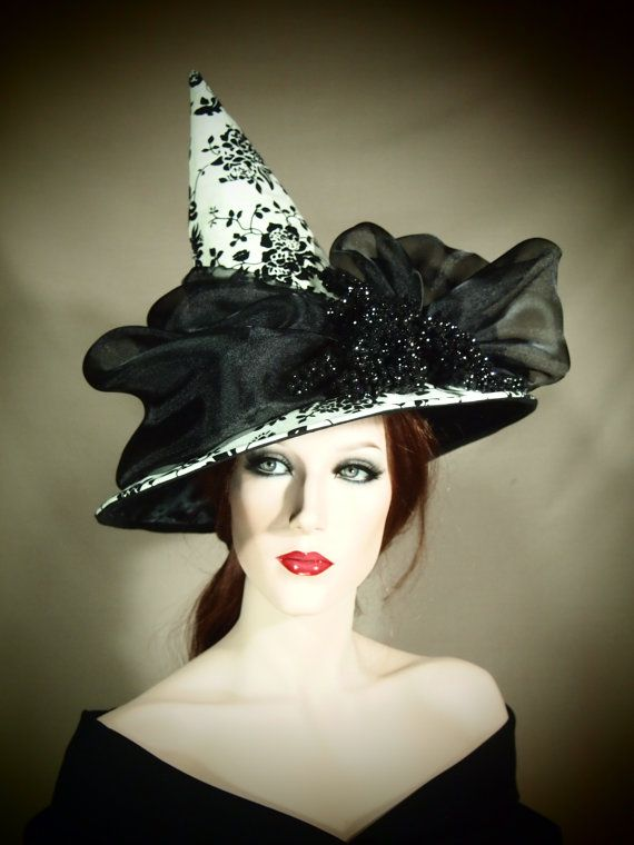 Couture Witch Hat First Frost 22 OOAK by EvercrumblyAndWitch, $109.00