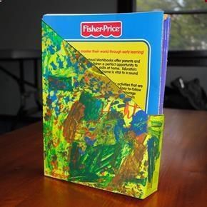 Upcycled Cereal Box Coloring Book Holder