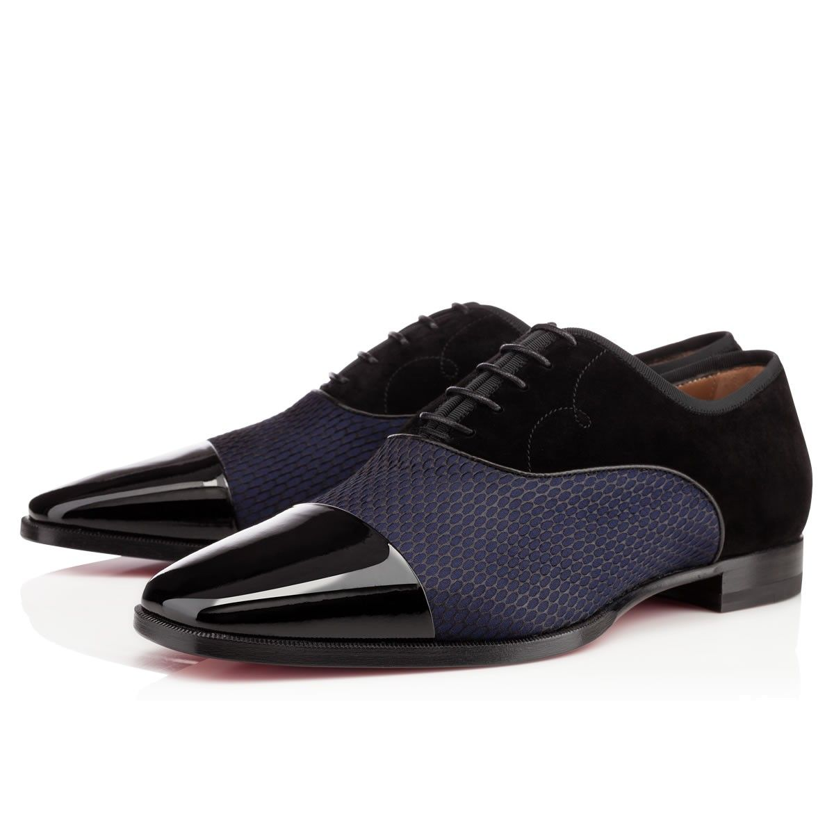 Christian Louboutin Olympio Flat in Blue for Men (black) | Lyst