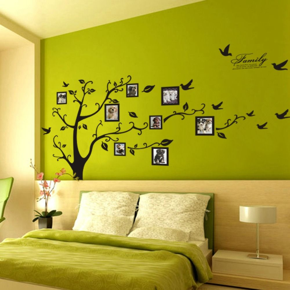 Free Shipping:Large 200*250Cm/79*99in Black 3D DIY Photo Tree PVC ...