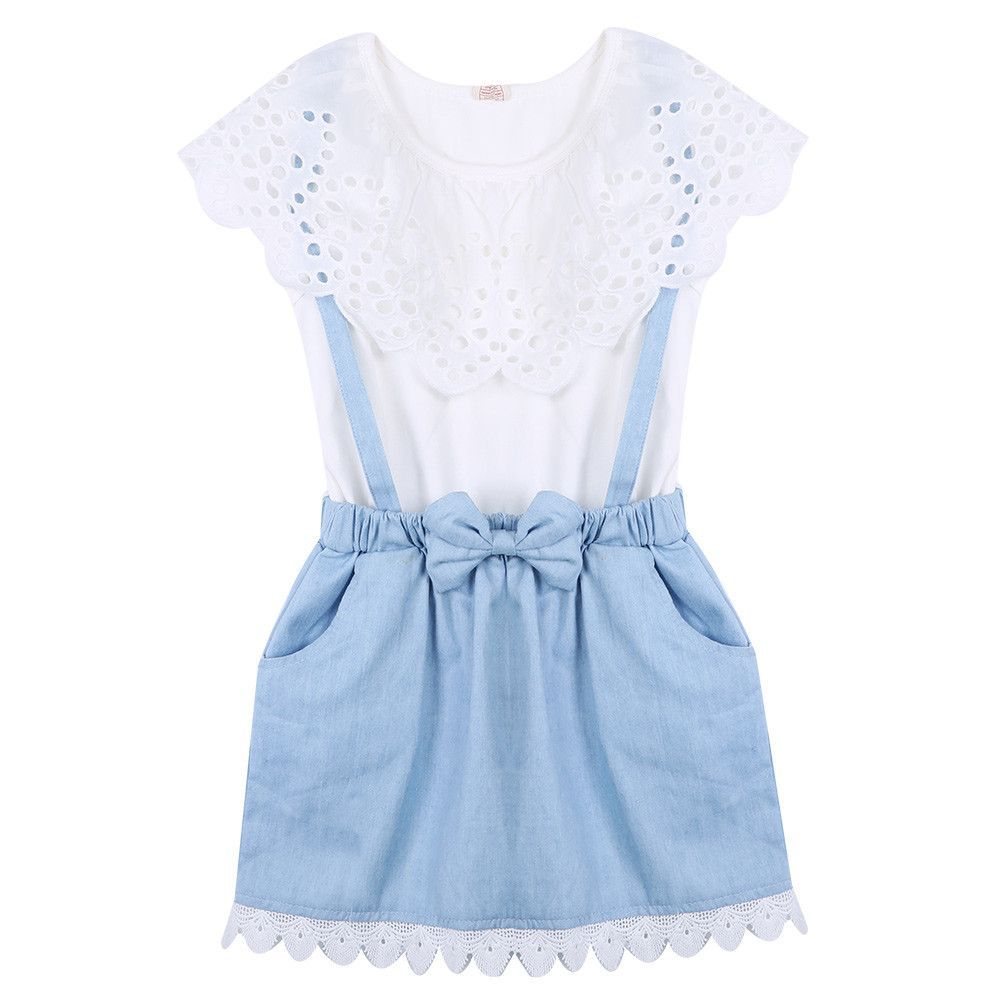 Lace Denim Dress only $19.95 #kidsclothess   Baby girl clothing ...