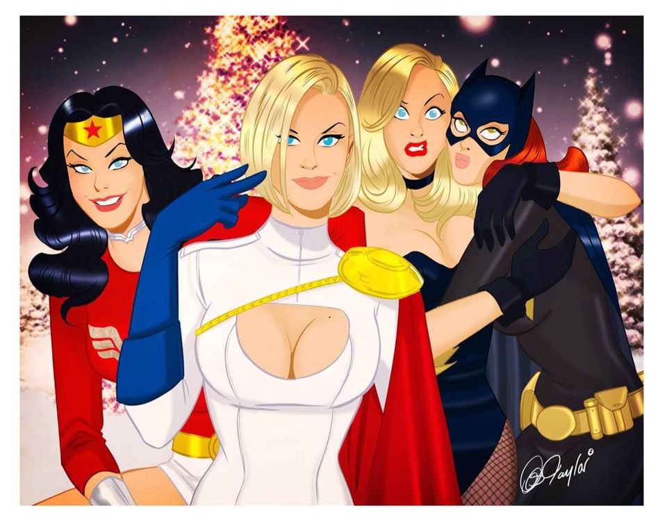 Merry Christmas from the Justice League Women by Des Taylor | Comic ...