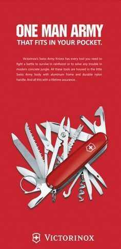 Image Result For Advert Inspiration Swiss Army Knife