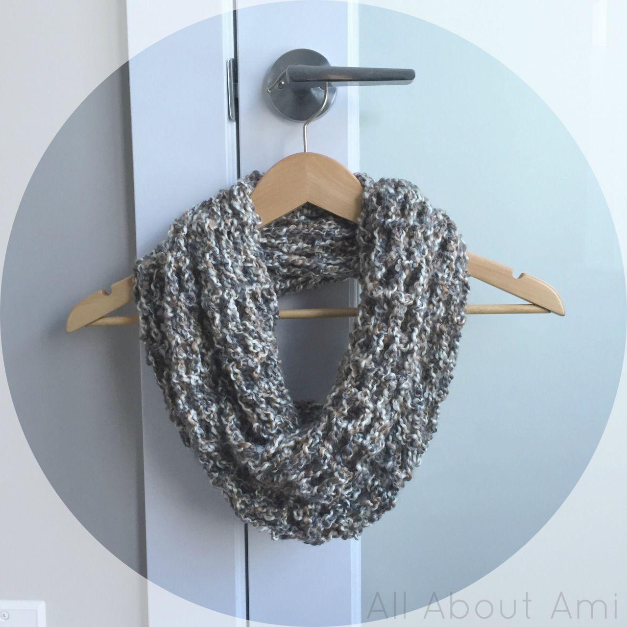Homespun Cowl | Mesh netting, Double crochet and Yarns