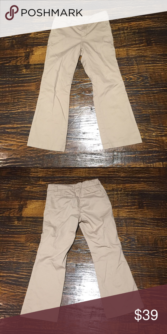 Girls Plus Size Khakis - Great for School Uniform Worn Once. Great Condition. Size 8 Plus. Adjustable waist. Pockets in front and back. Bottoms