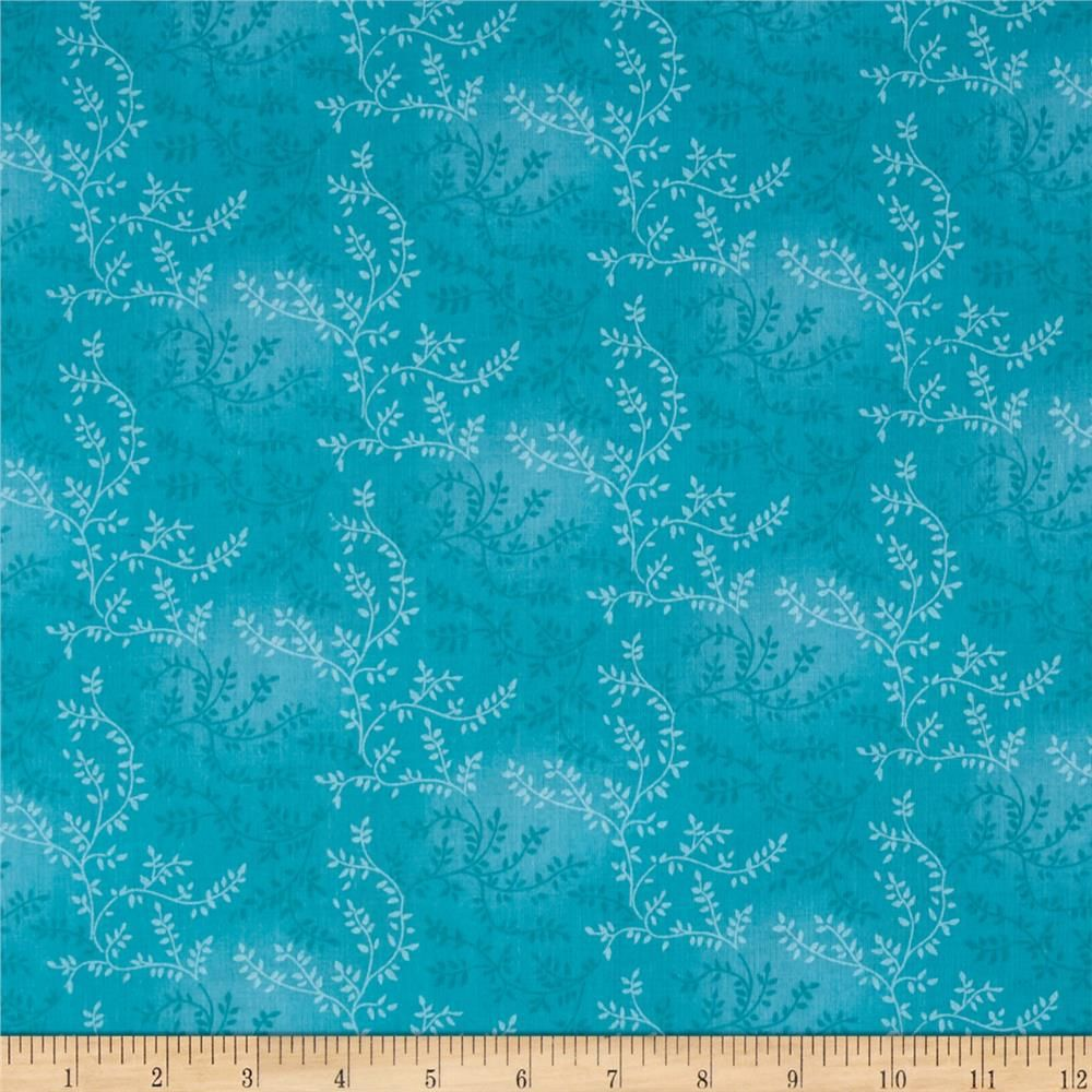 """108"""" Wide Quilt Back Tonal Vineyard Turquoise From"""