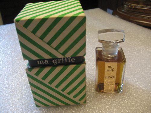 Vintage 60's Carven MA GRIFFE Perfume Crystal Bottle 1 oz Original Box