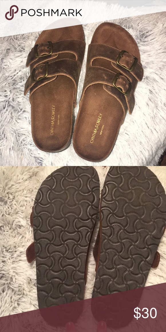 2f6e8b9fe9b Sandals Worn once! Cynthia rowley (dupes birkenstocks) Box included Shoes