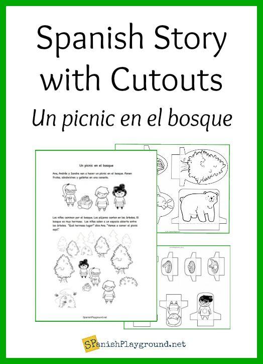 Spanish Story with Cutouts: Un picnic en el bosque   Summer