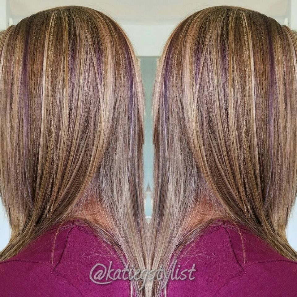 Violet Lowlights By Katie At Radura Salon And Spa In Manchester Nh