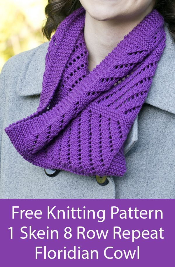 Free Knitting Pattern for 8 Row Repeat One Skein Floridian ...