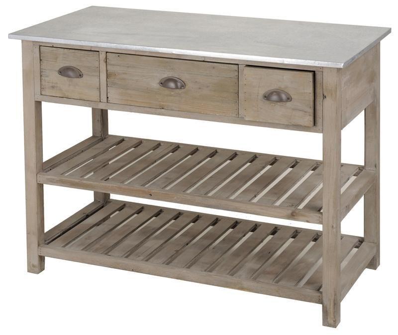 Pflanztisch Gartnertisch Tisch Mit Zinkplatte Holz Mediterran