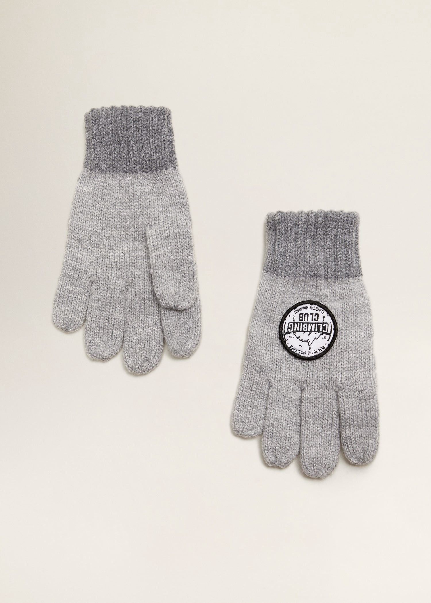 53ef73d80ee Mango Patches Knitted Gloves - S