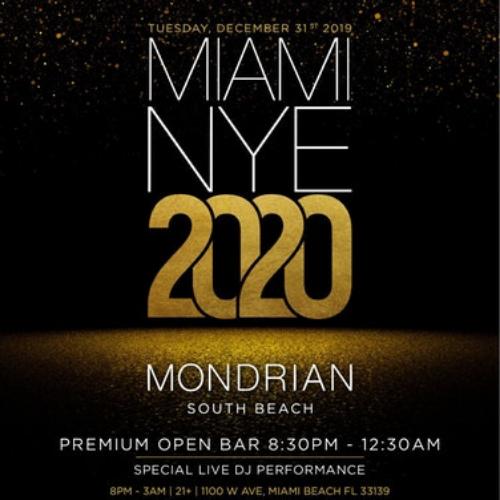 Mondrian Miami Nye 2020 Party With Premium Open Bar Mondrian South Beach Hotel Mondrian South Beach Open Bar
