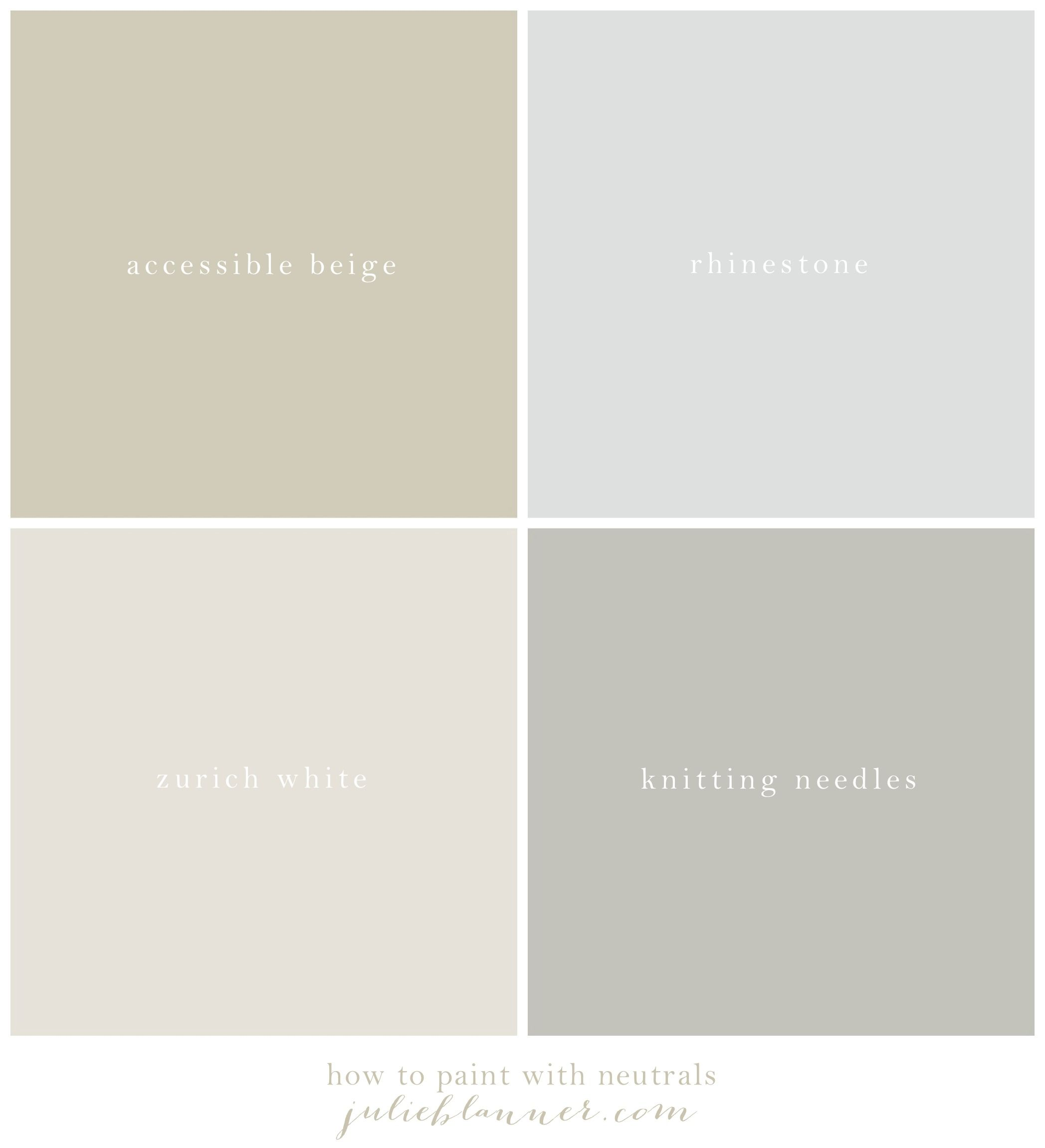 Learn how to paint with neutral colors establish a neutral color