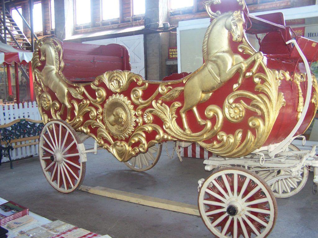 Sig Sautelle Band Chariot Circus Wagons Old circus