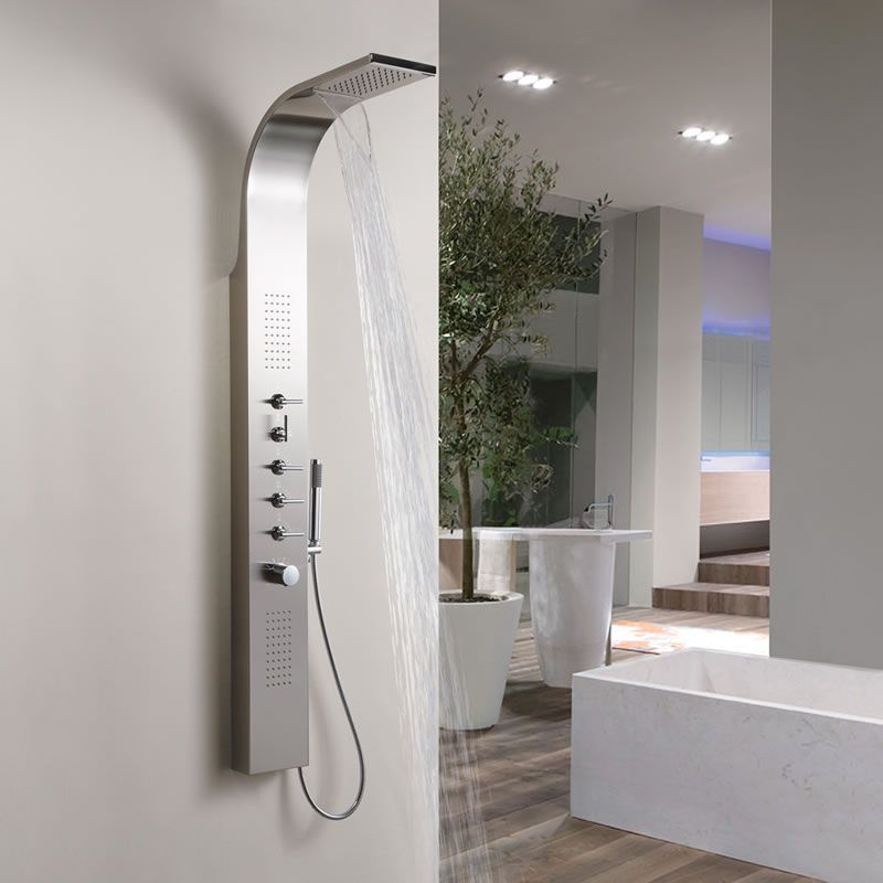 Duschpaneel Aus Edelstahl 5 Funktionen Niagara Moderne Dusche