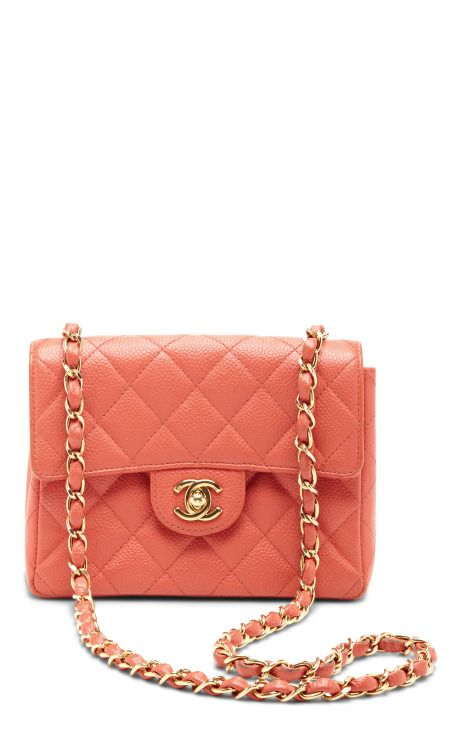 00de40b71c9b14 Vintage Chanel Coral Caviar Leather Bag by What Goes Around Comes Around -  Moda Operandi