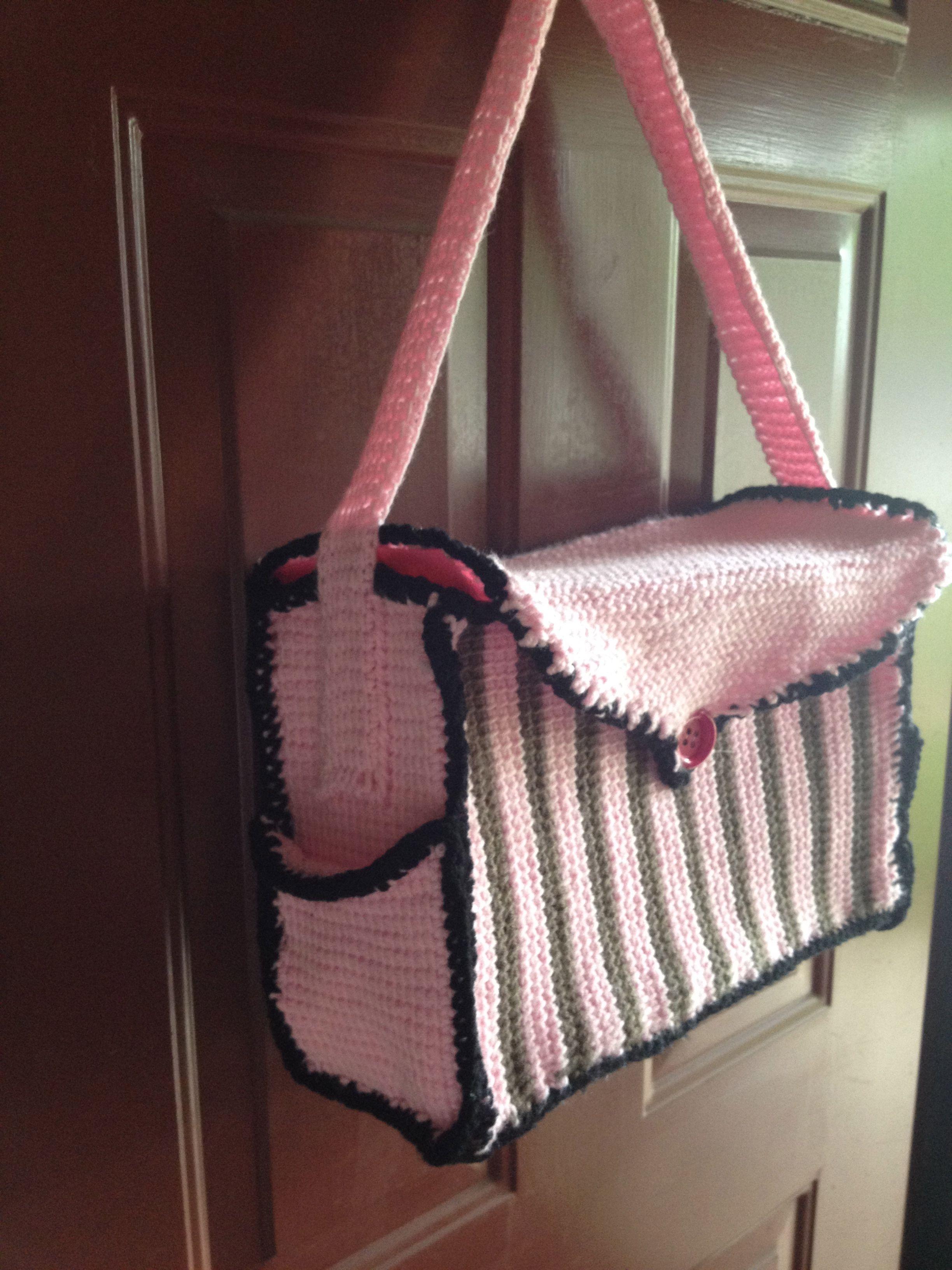 Tunisian Crochet Diaper Bag | My Projects | Pinterest | Malos y Tejido