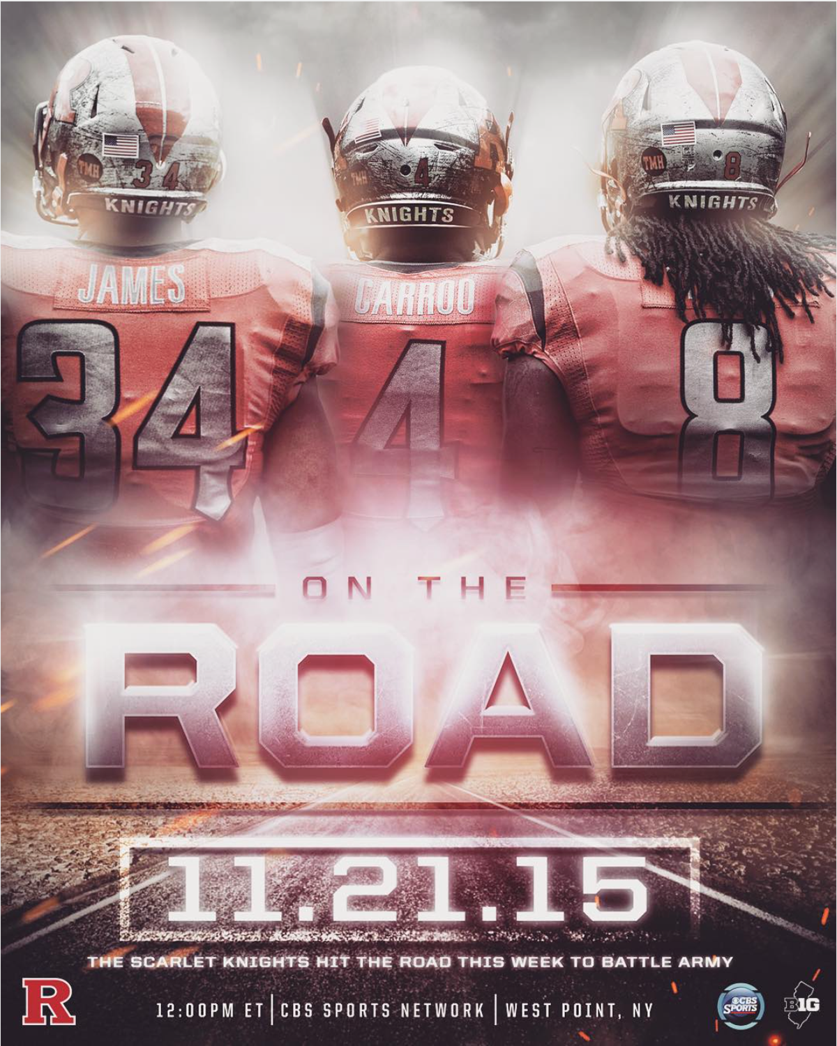 Rutgers Vs Army Away Game Promo On Behance Sports Graphics Sports Design Sport Poster