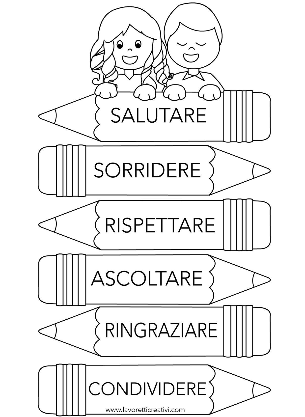 Cartello con regole di comportamento scuola bacheche for Idee per cartelloni scuola infanzia