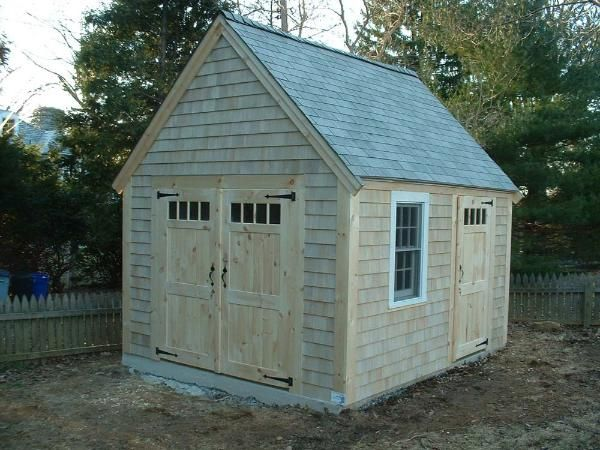 10 X 12 Cape Cod Cottage With Custom Doors And Concrete Slab Cape Cod Cottage Custom Sheds Wood Shed Plans