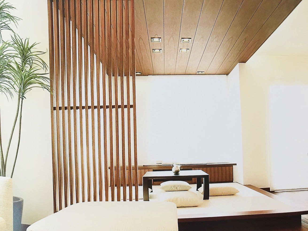 天井に木目クロス 木目壁紙 施工完了 実際貼ってわかったメリット