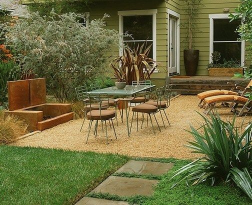 i googled affordable patio ideas and realized a gravel patio would fit our new ranch perfectly - Garden Design Gravel Patio