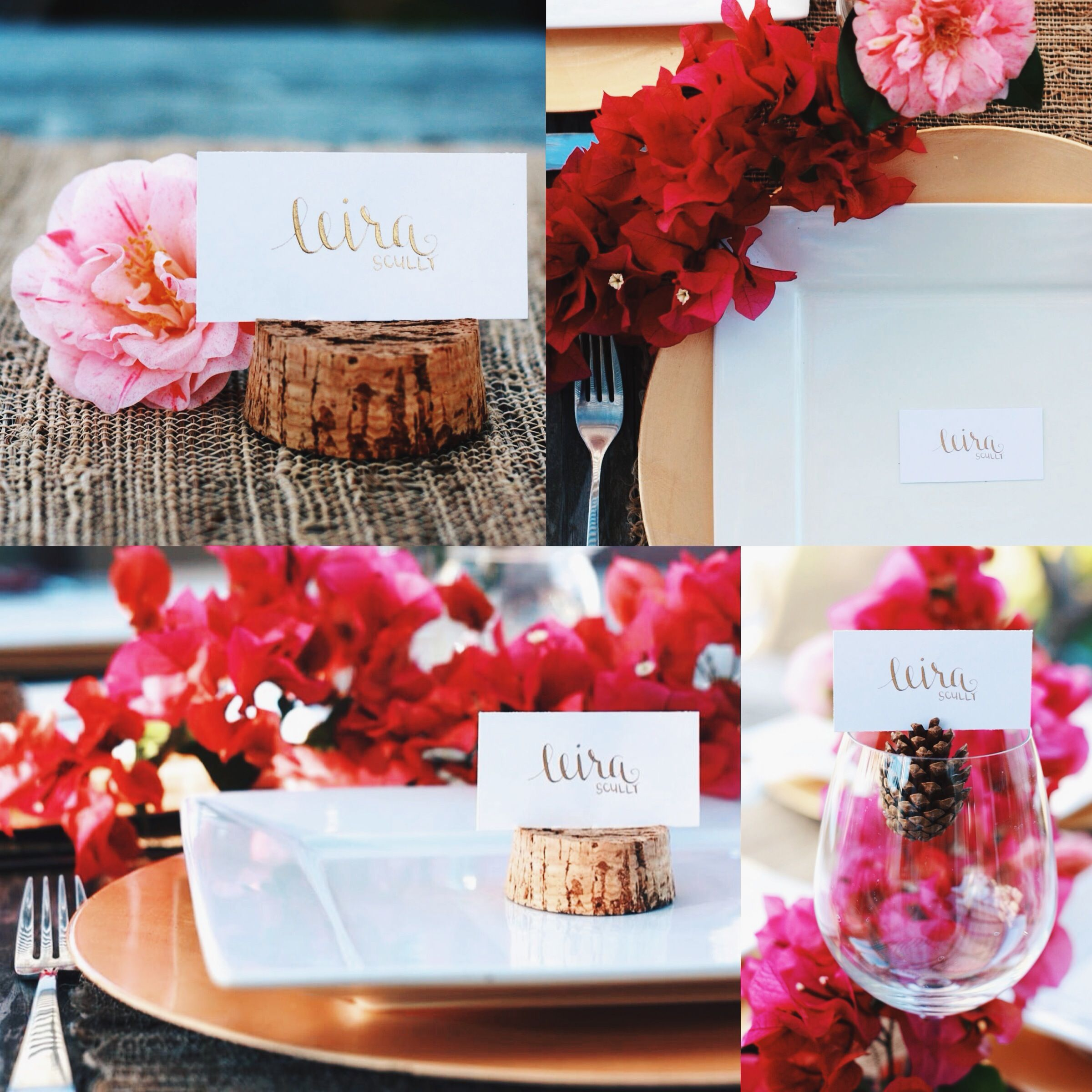 Dinner Party Name Ideas Part - 48: Wedding Place Cards - Escort Card - Gold / Black Calligraphy - Dinner Party  - Name