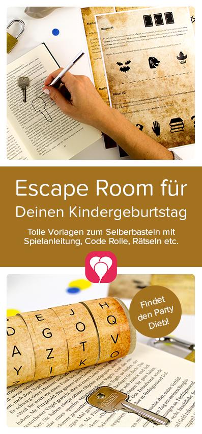 Escape Room Spiel bei Dir Zuhause! Du möchtest einen Escape Room #Kindergeburtstag machen und den Kindern spannende #Rätsel bieten? Wir helfen Dir! Mit unserer Vorlage