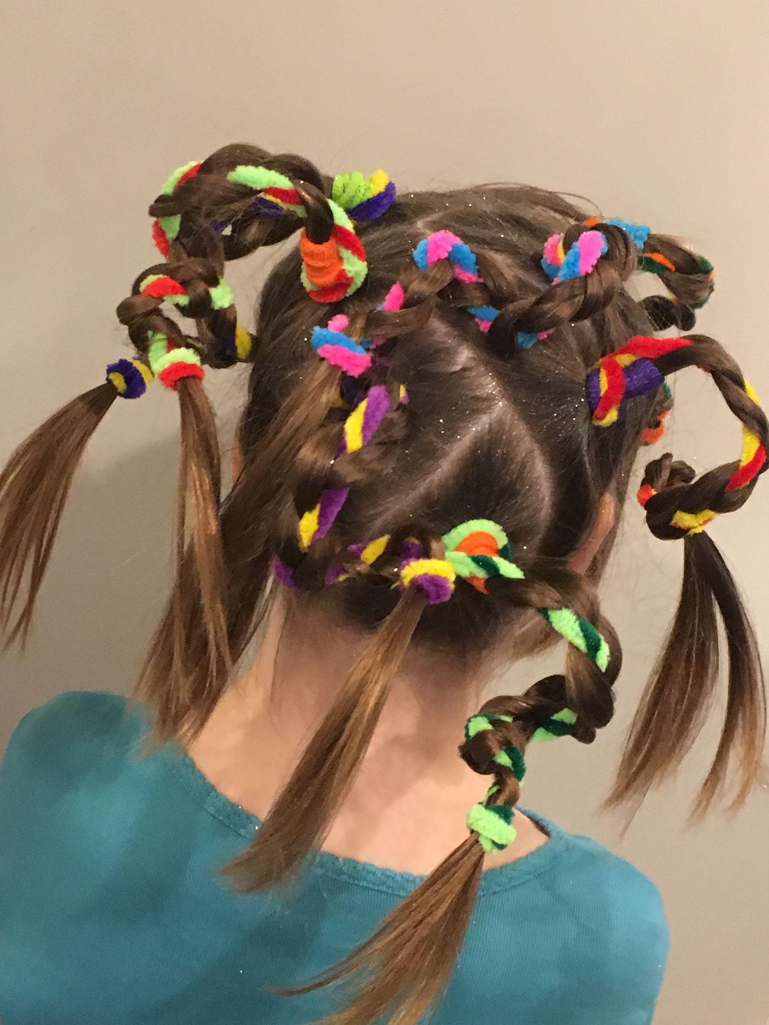 pin crazy hair