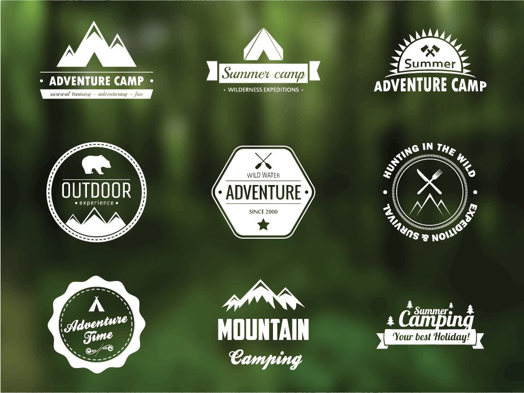 Free Vector Adventure Badges Design Inspiration