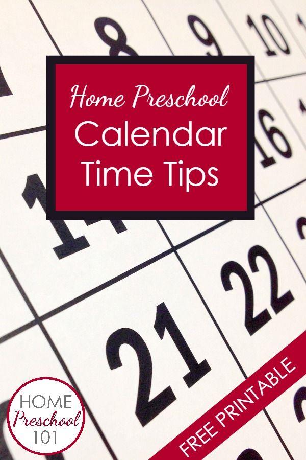 Home Preschool Calendar Tips-learn about the goals of preschool