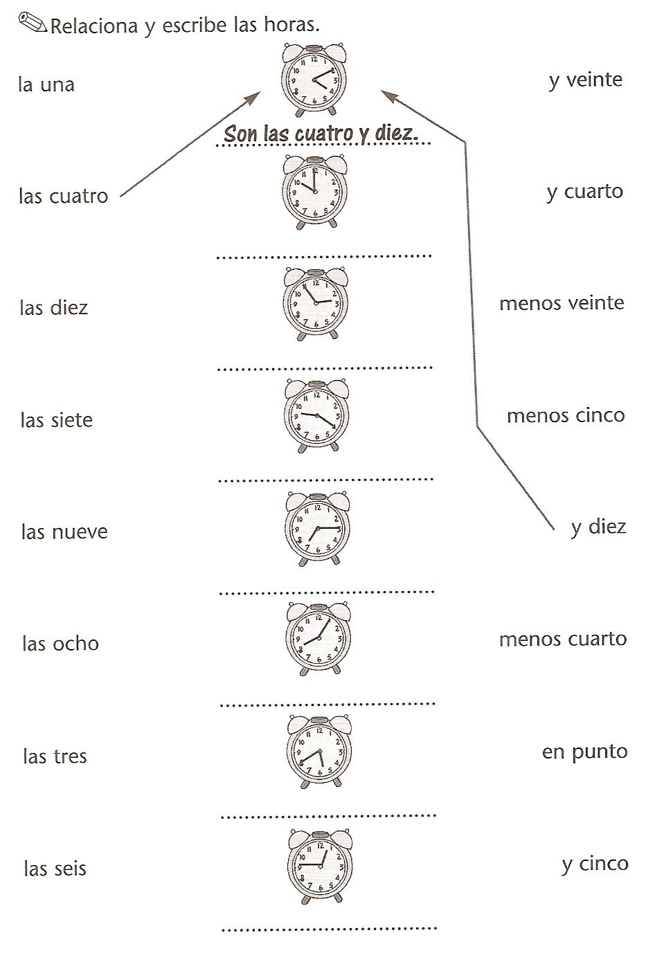 Printables La Hora Worksheet 1000 images about la hora on pinterest telling time clock worksheets and in spanish
