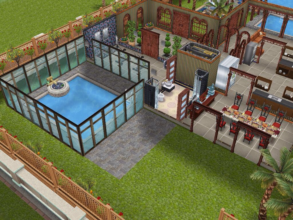 Hotel Swimming Pool Sims House Design Sims House Sims 4 House Plans